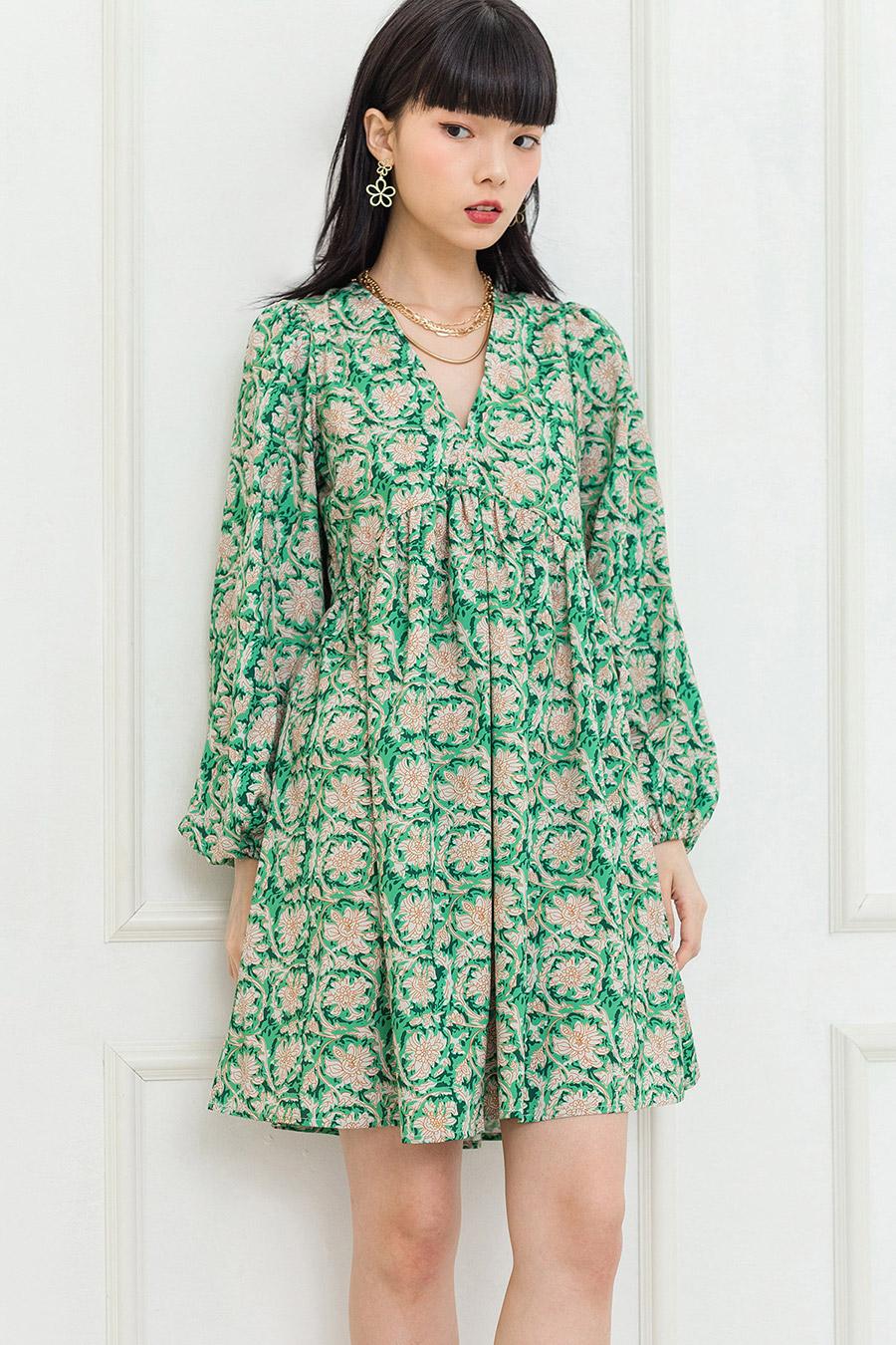 *RESTOCKED* PAZIAH DRESS - PINE FLEUR