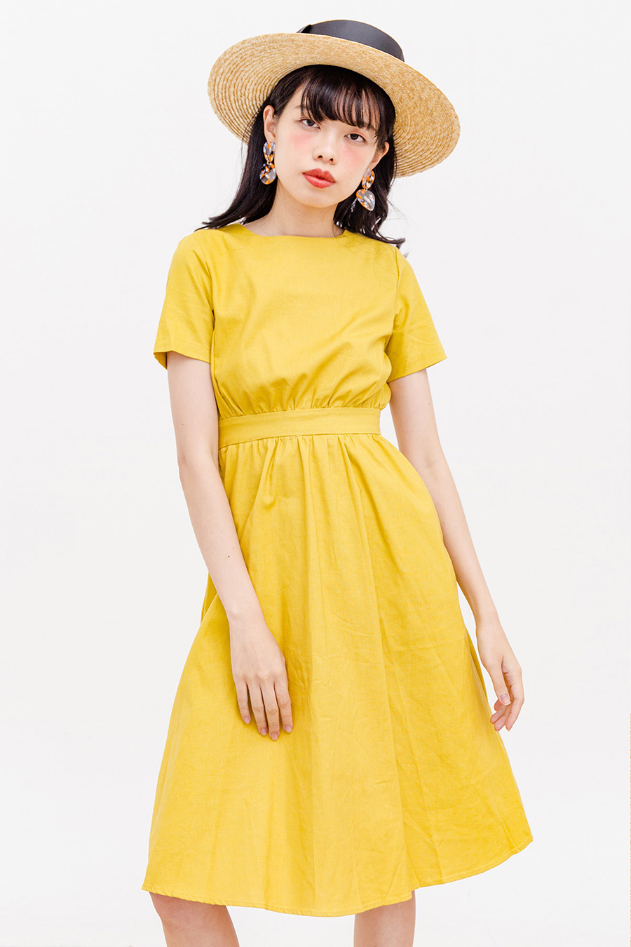 PEGGE MIDI DRESS - BUTTERSCOTCH