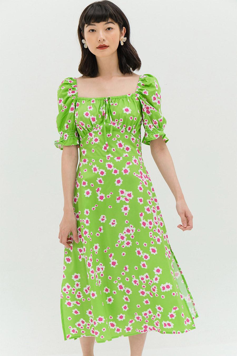 PEGGY DRESS - BISCAY FLEUR
