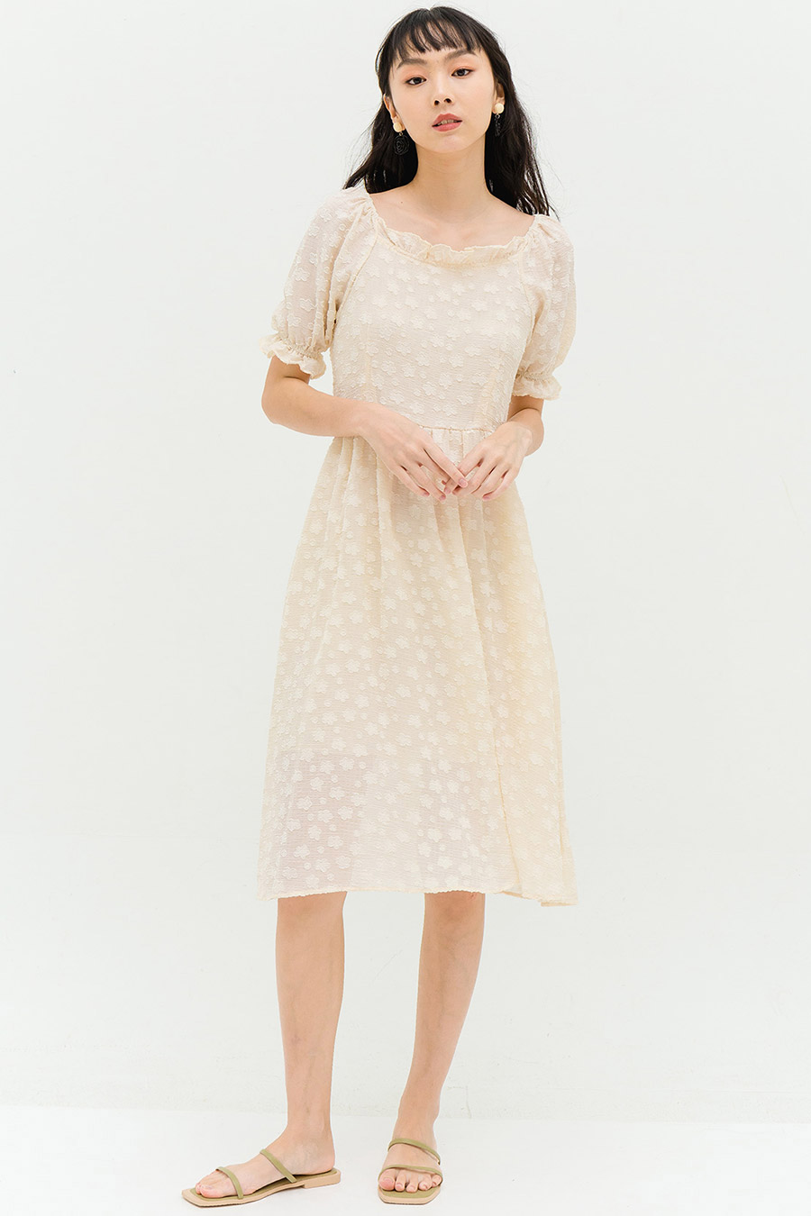 PENELOPE DRESS - VANILLA