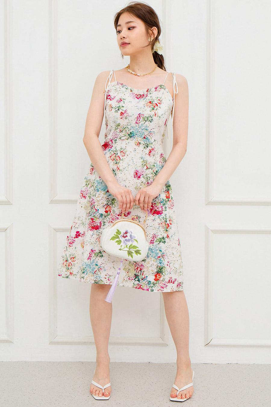 PERIN DRESS - IVORY FLEUR