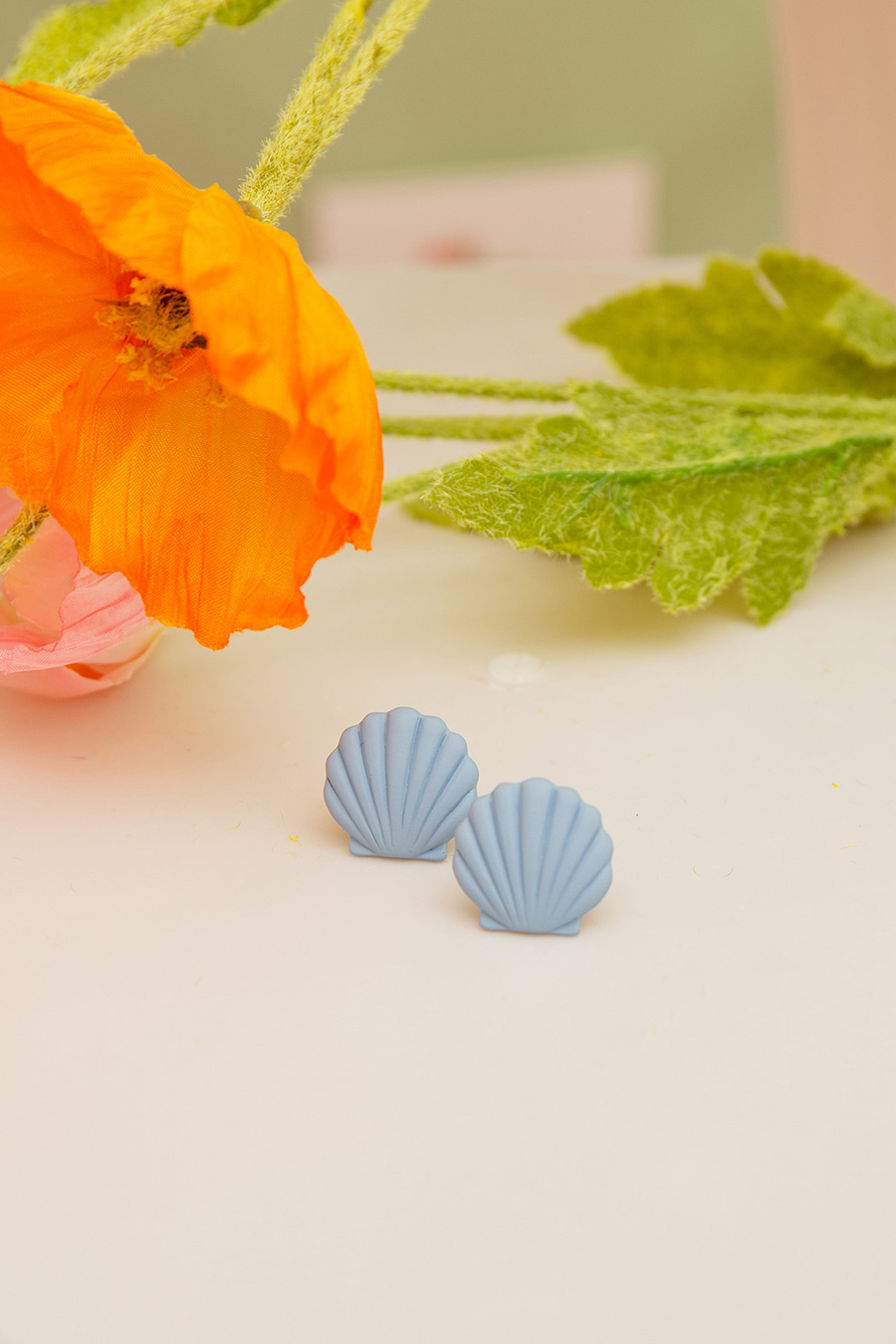 *SALE* PETUNIA EARRING - SEA BLUE