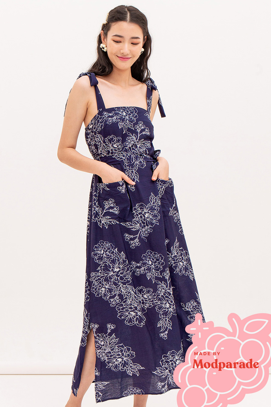 *RESTOCKED* PIERA DRESS - MIDNIGHT BLOOM [BY MODPARADE]