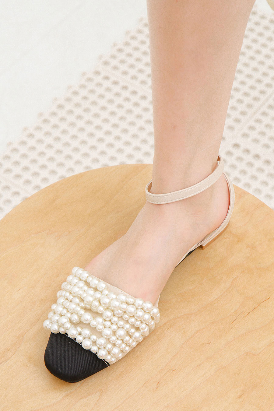 PIERA SHOES - NUDE PEARL