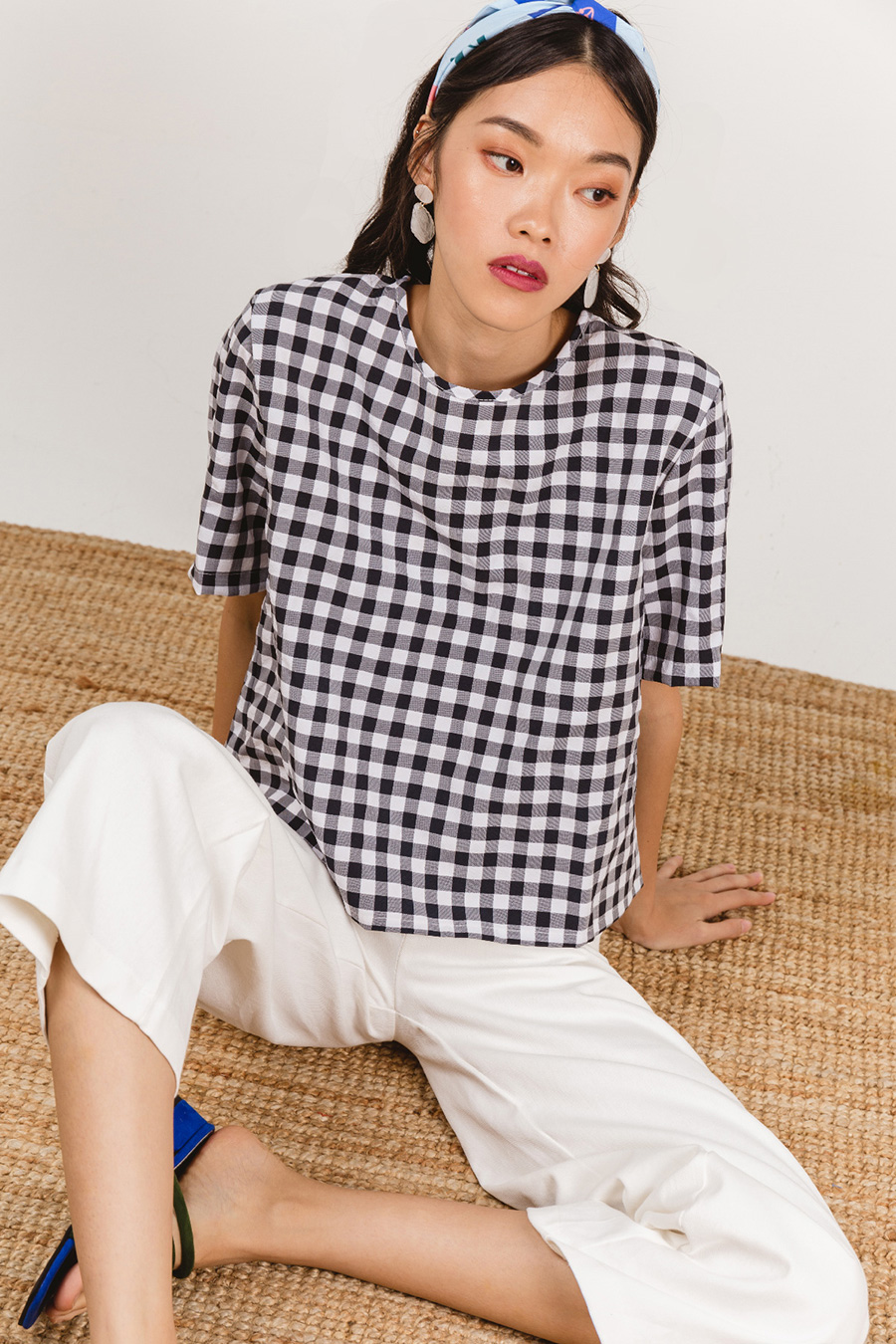 PIERRO TOP - MIDNIGHT GINGHAM
