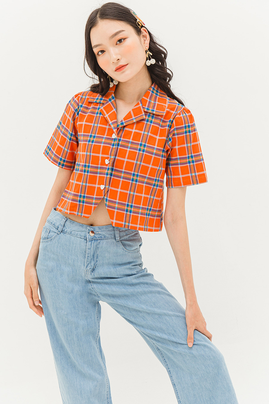 PIPER TOP - PLAID