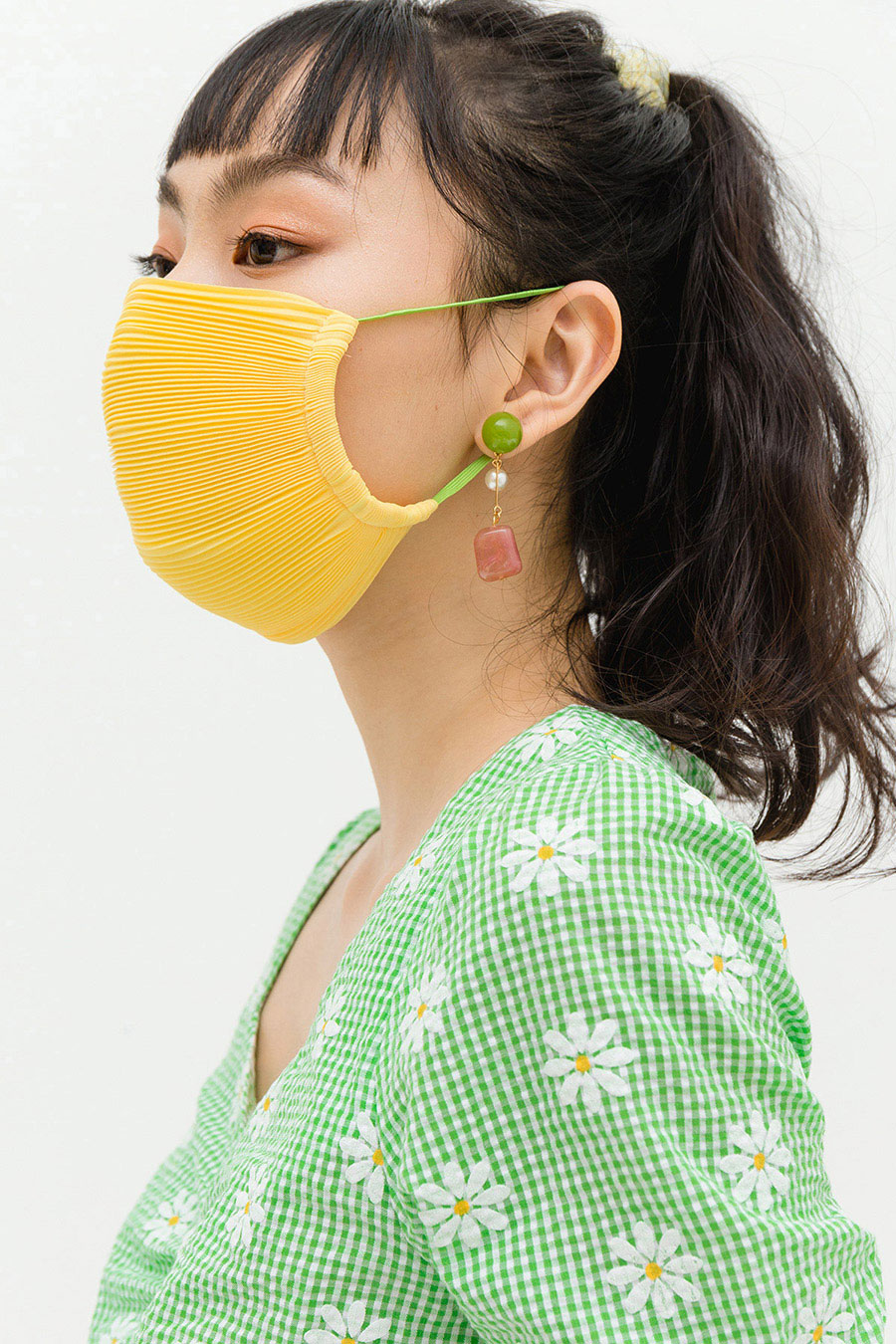 *RESTOCKED* PLEATED MASK - SUN GOLD [BY MODPARADE]