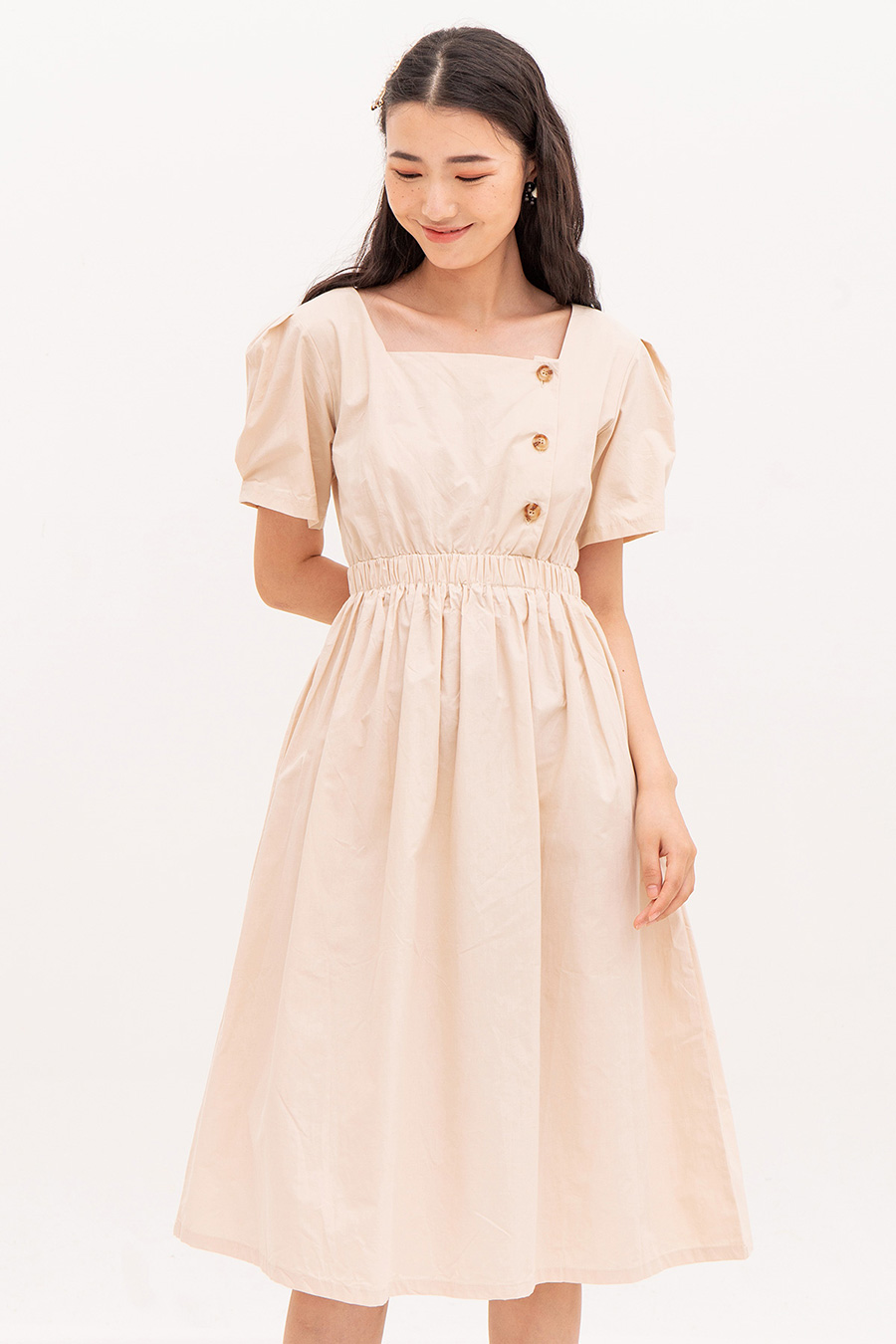 PRISCILLE DRESS - BISCOTTI