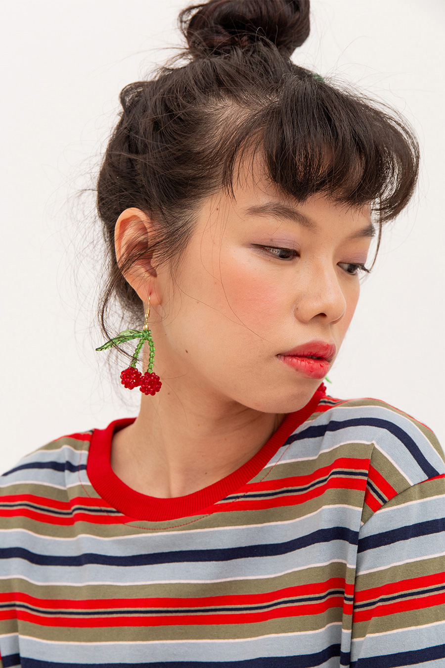 *RESTOCKED* QUENTINE EARRING - CHERRY