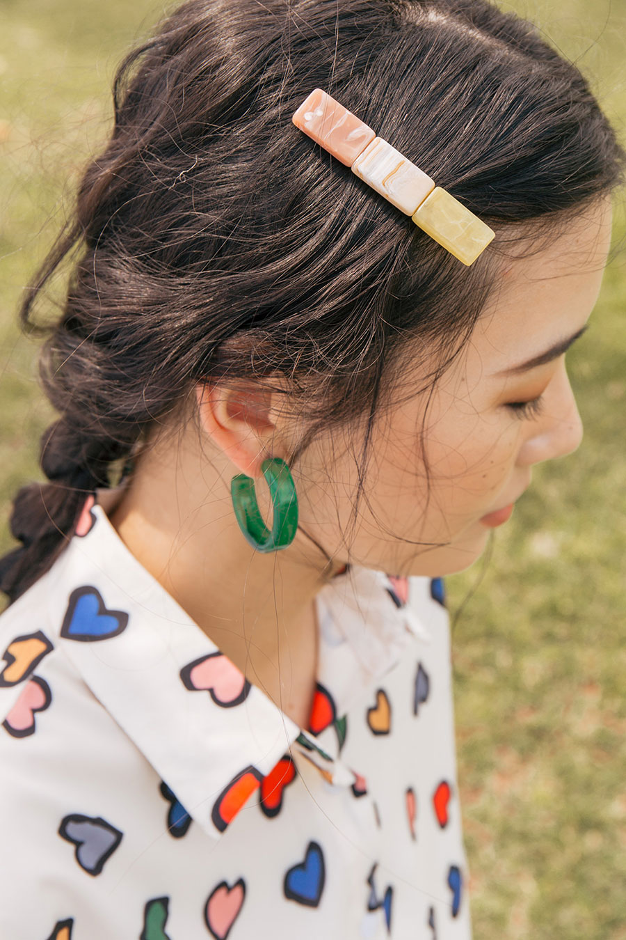QUENTINE HAIRCLIP - MARBLE