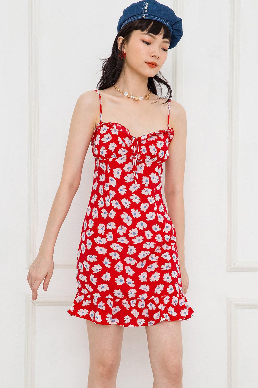 REMY DRESS - SCARLET FLEUR