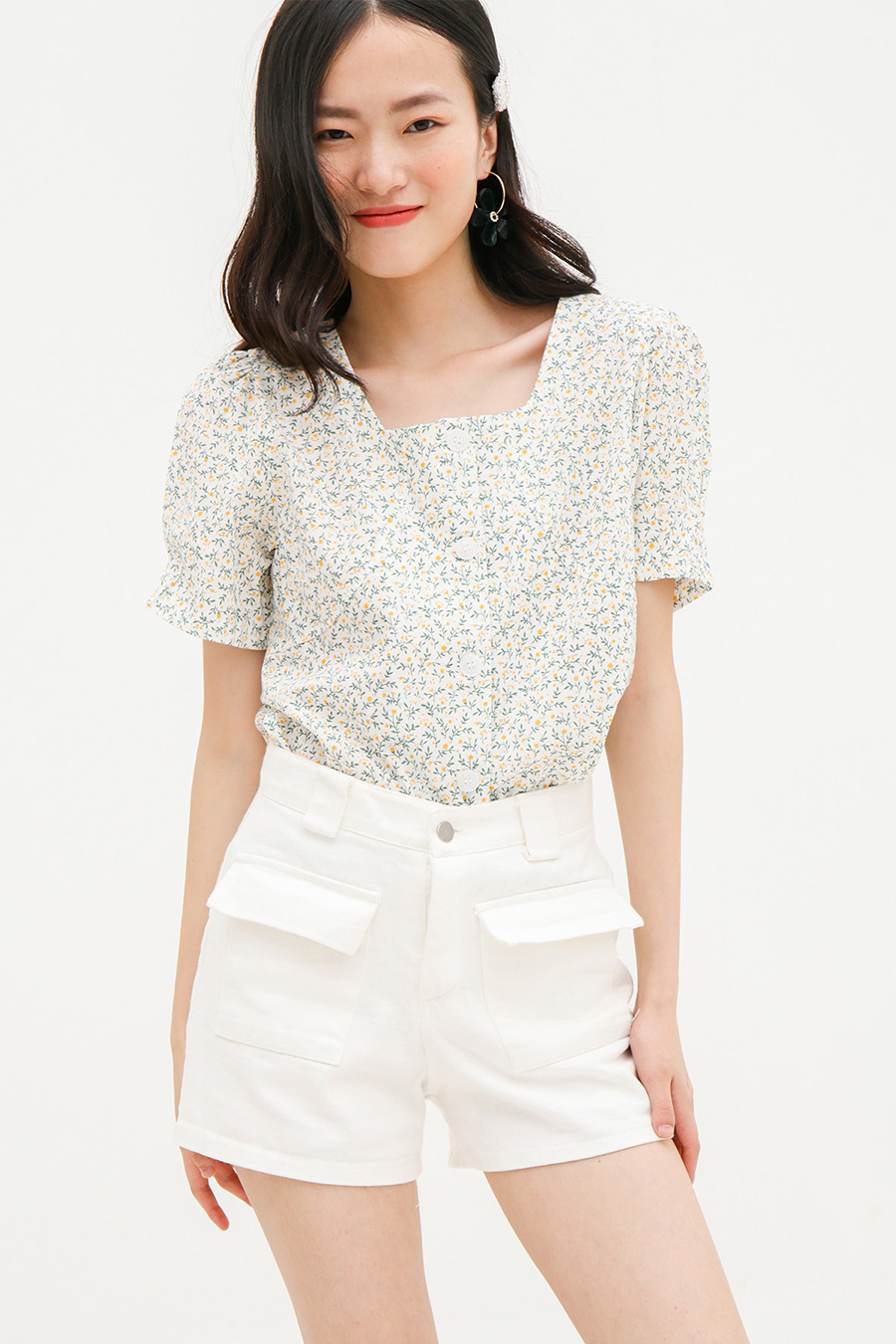 *RESTOCKED* RENEE TOP - CAMELLIA