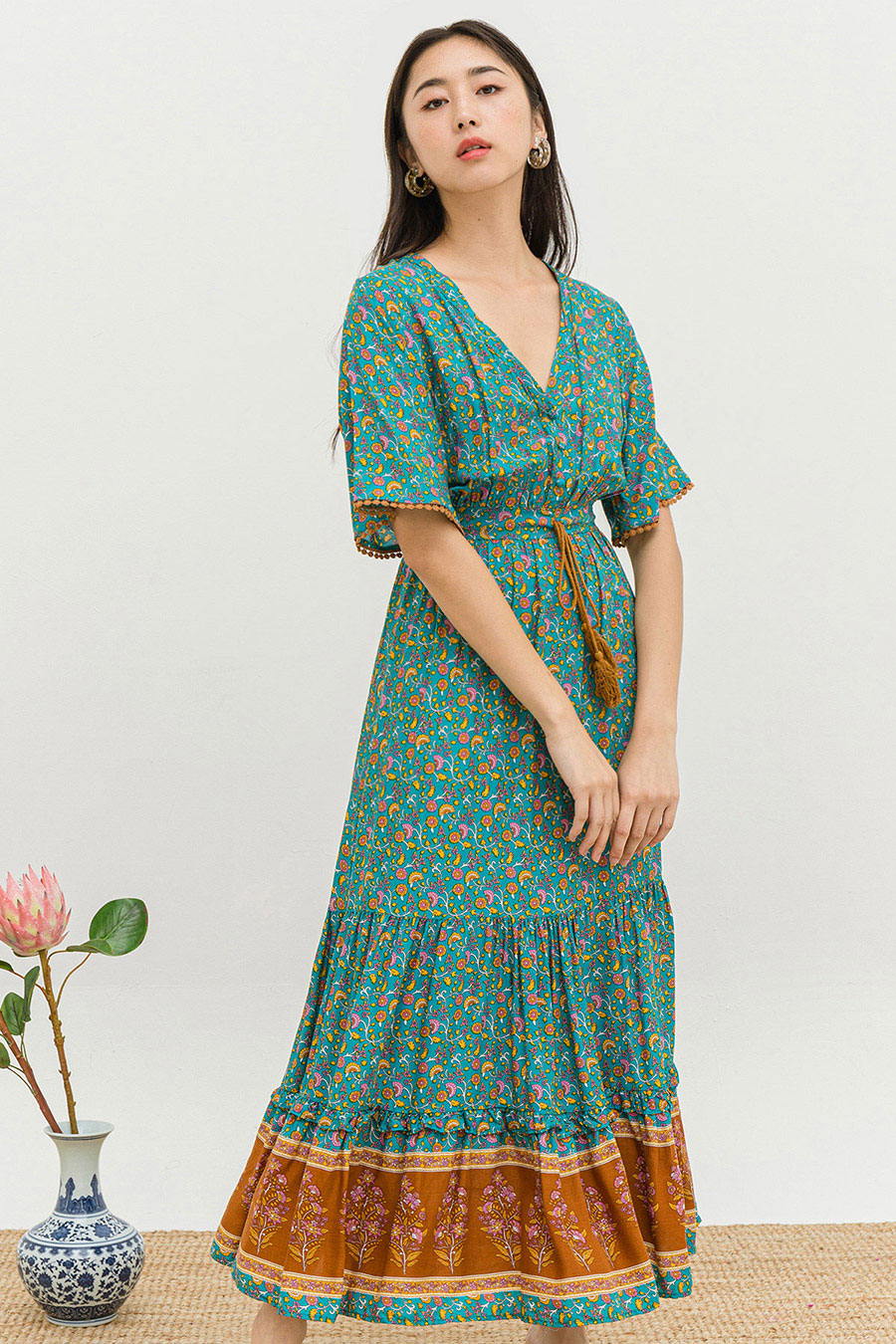 *BO* RIKKIE DRESS - OSMANTHUS