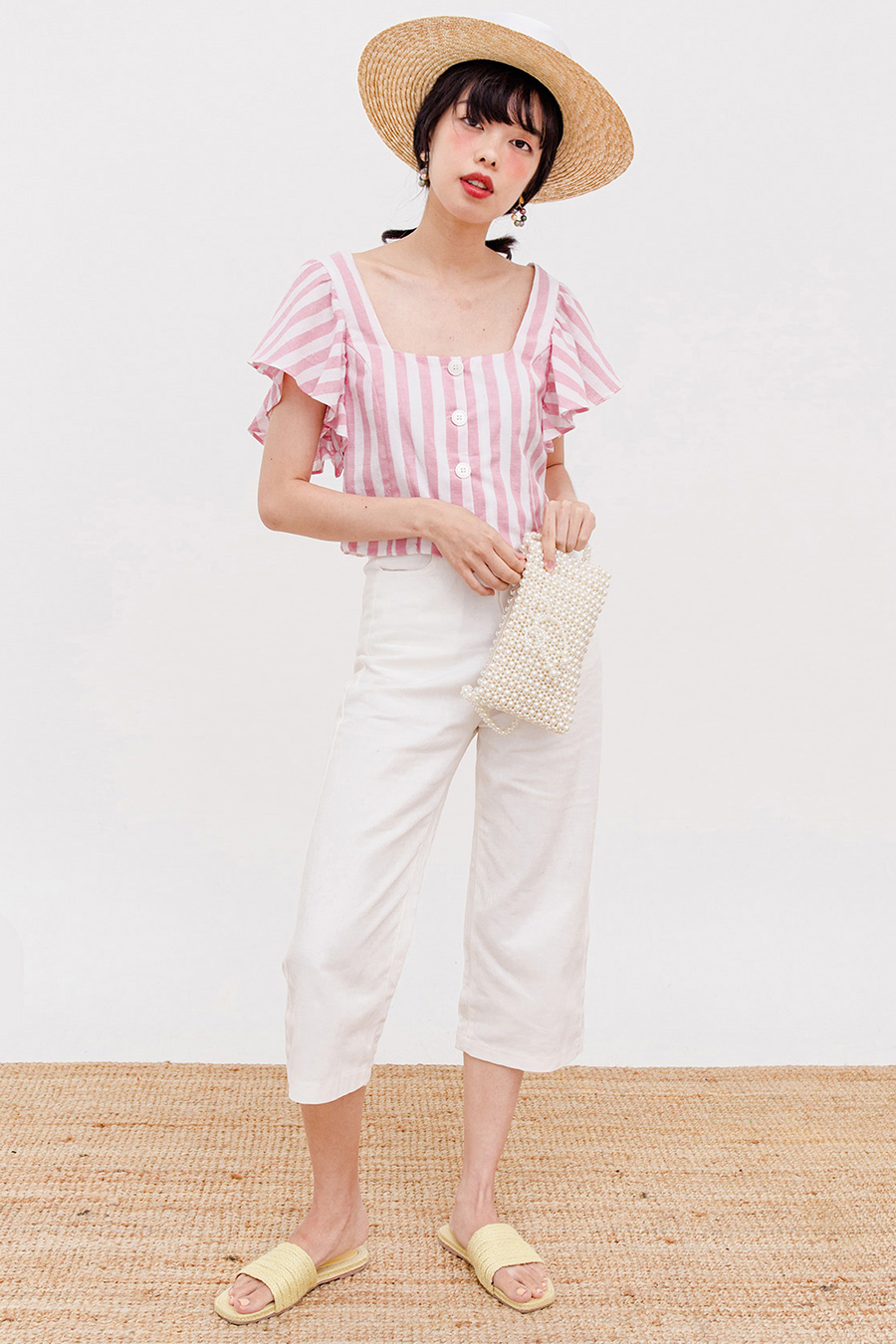 RIVER TOP - BLUSH STRIPE