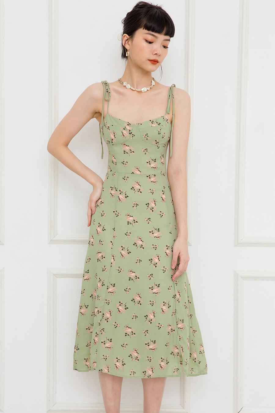 ROCHE DRESS - SAGE FLEUR