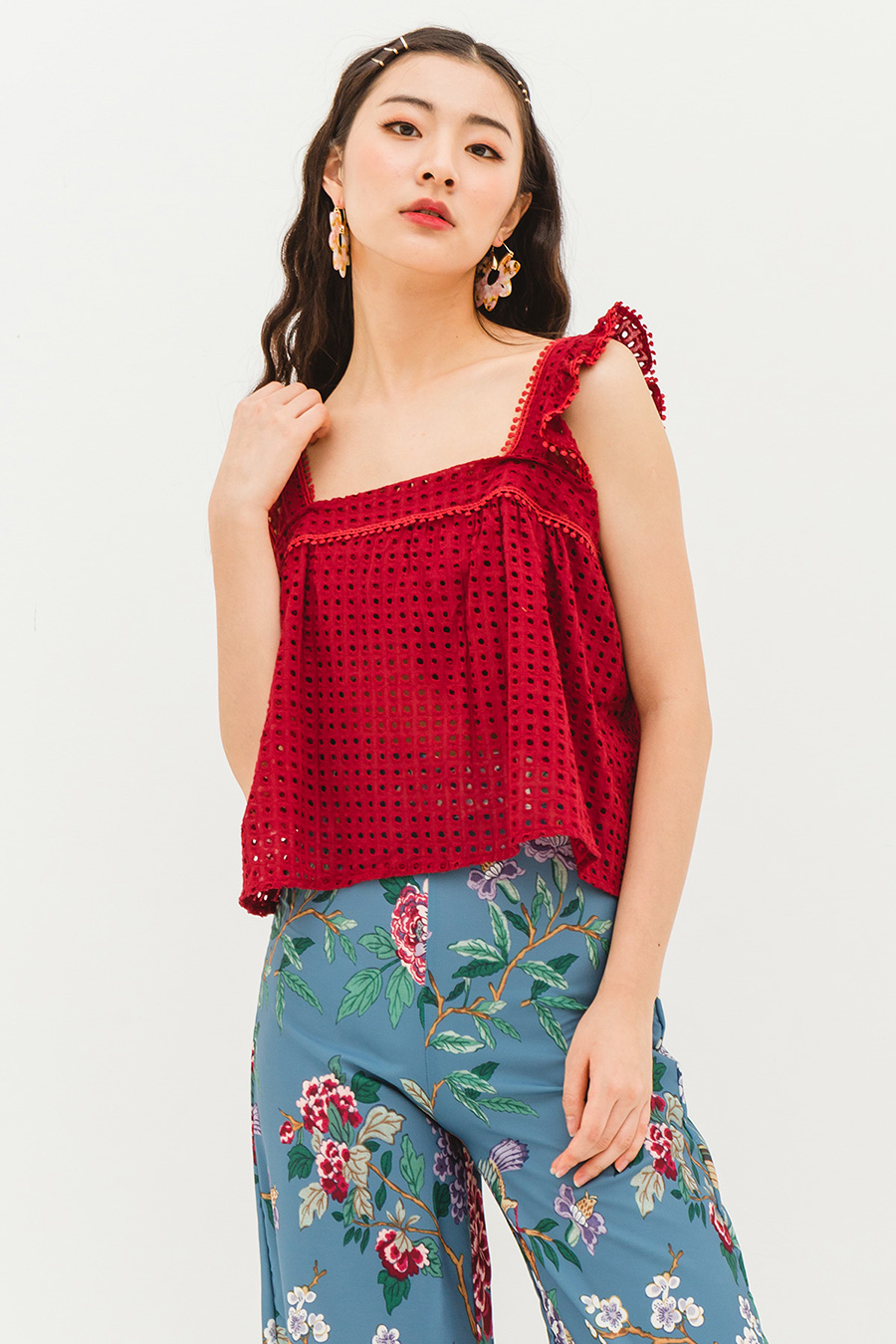 *RESTOCKED* ROLLA TOP - CRIMSON
