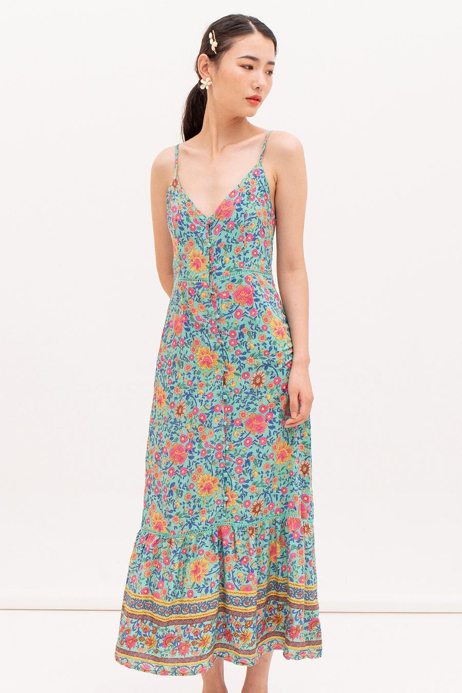 *RESTOCKED* ROMANE DRESS - PEONY