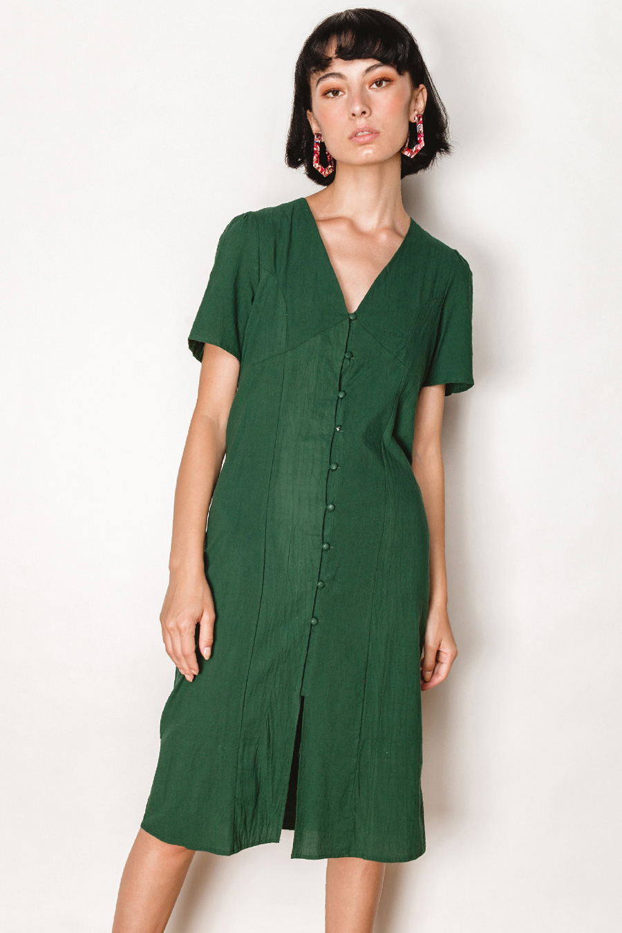 *BO* ROMMETTY DRESS - EMERALD