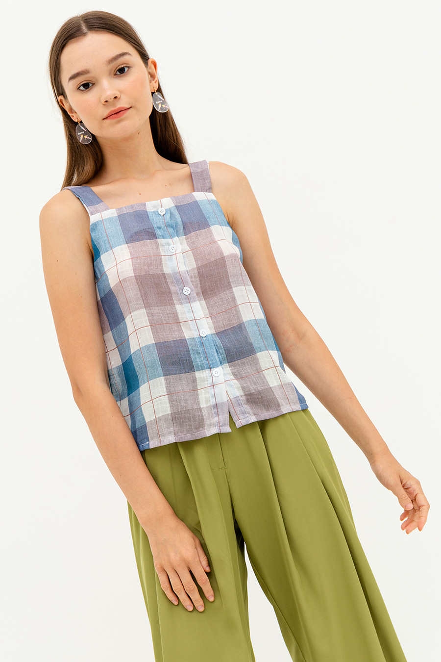 *SALE* RONJA TOP - PLAID