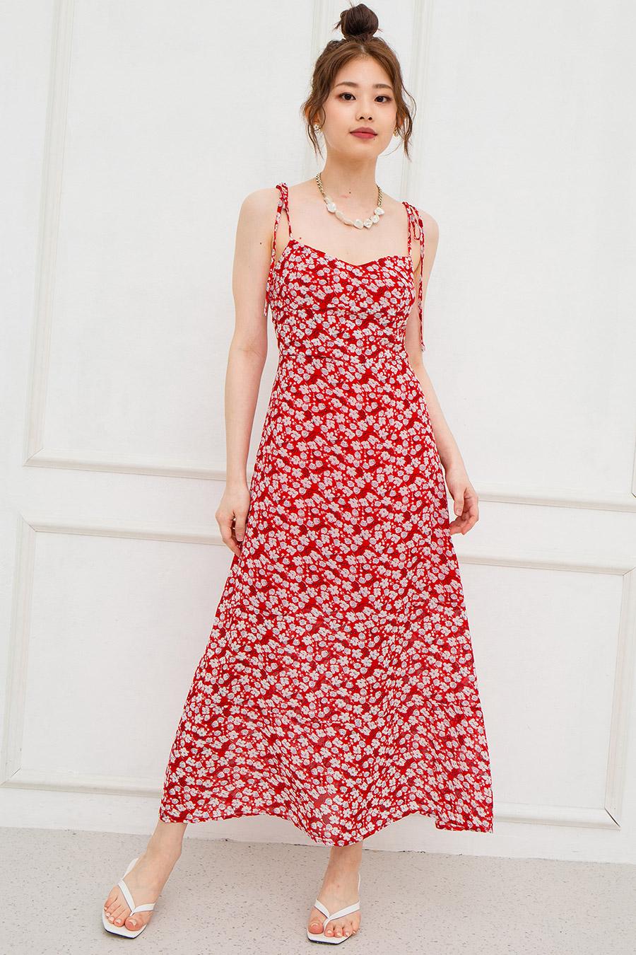SALOMON DRESS - SCARLET FLEUR