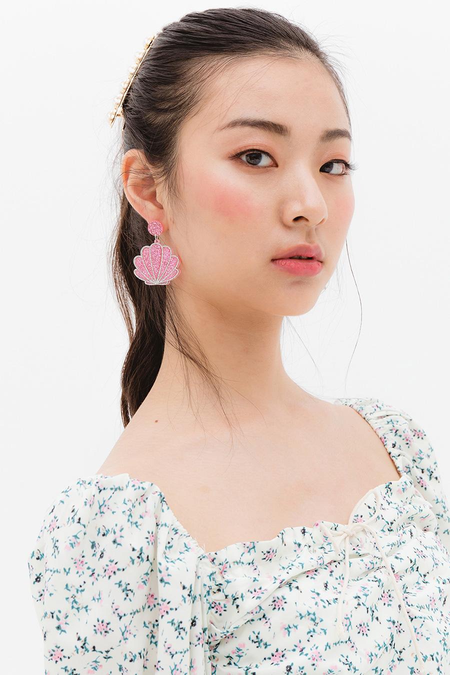 SEASHELL EARRING - GLITTERIE