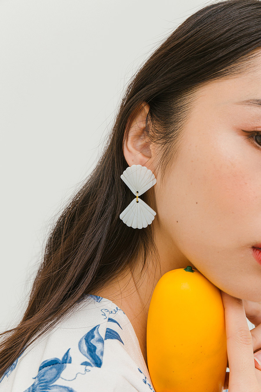 *BO* SEASHORE EARRING - SEASHELL [BY MODPARADE]