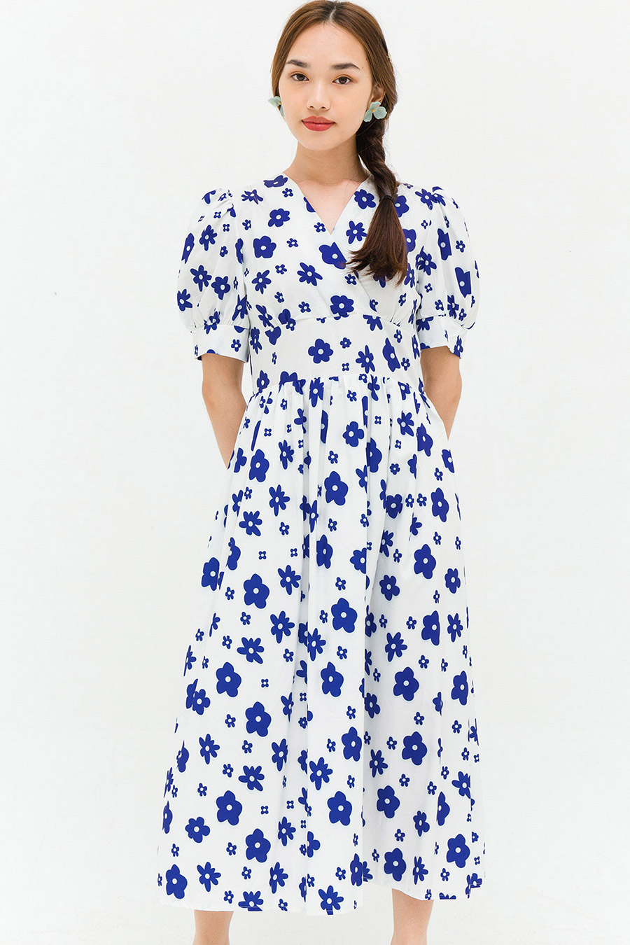 SELENA DRESS - IVORY FLEUR