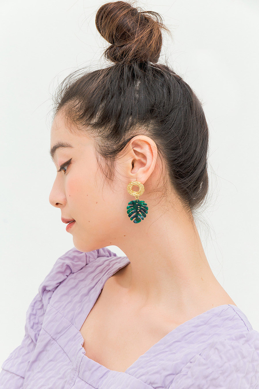 SENS EARRING - MONSTERA