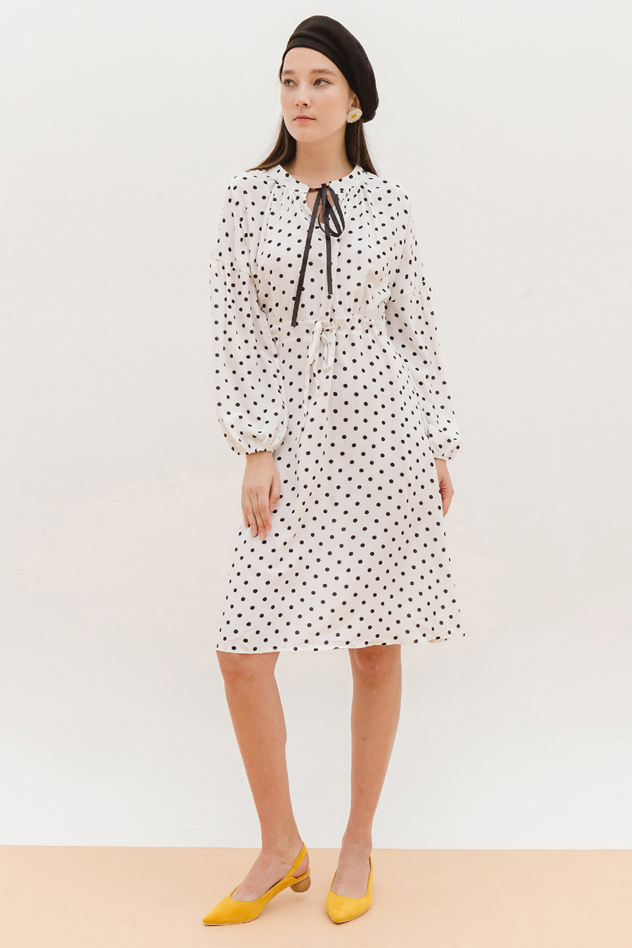 *SALE* SERAPHIM DRESS - IVORY DOTTY