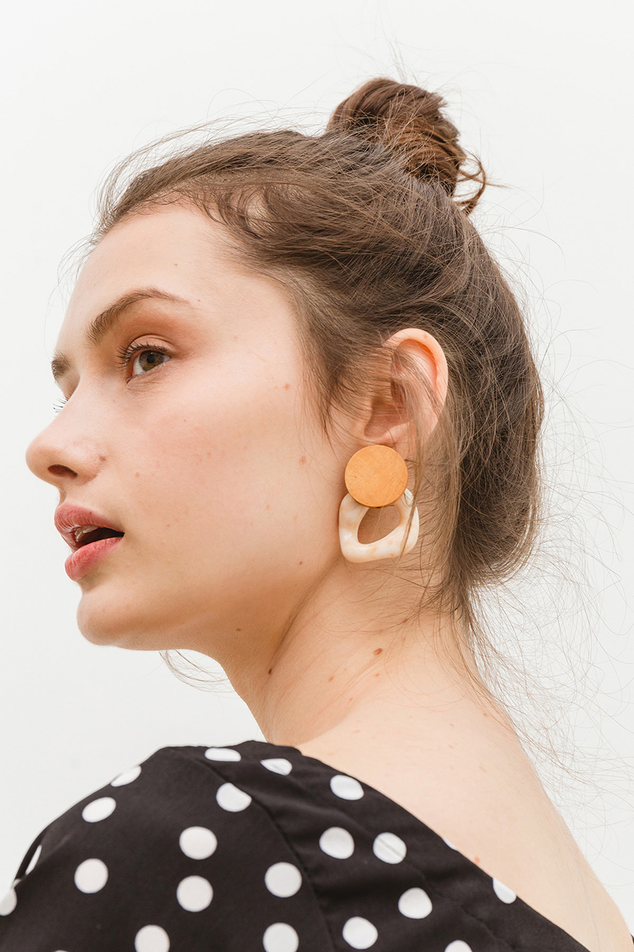 SEREN EARRING - WOOD LATTE