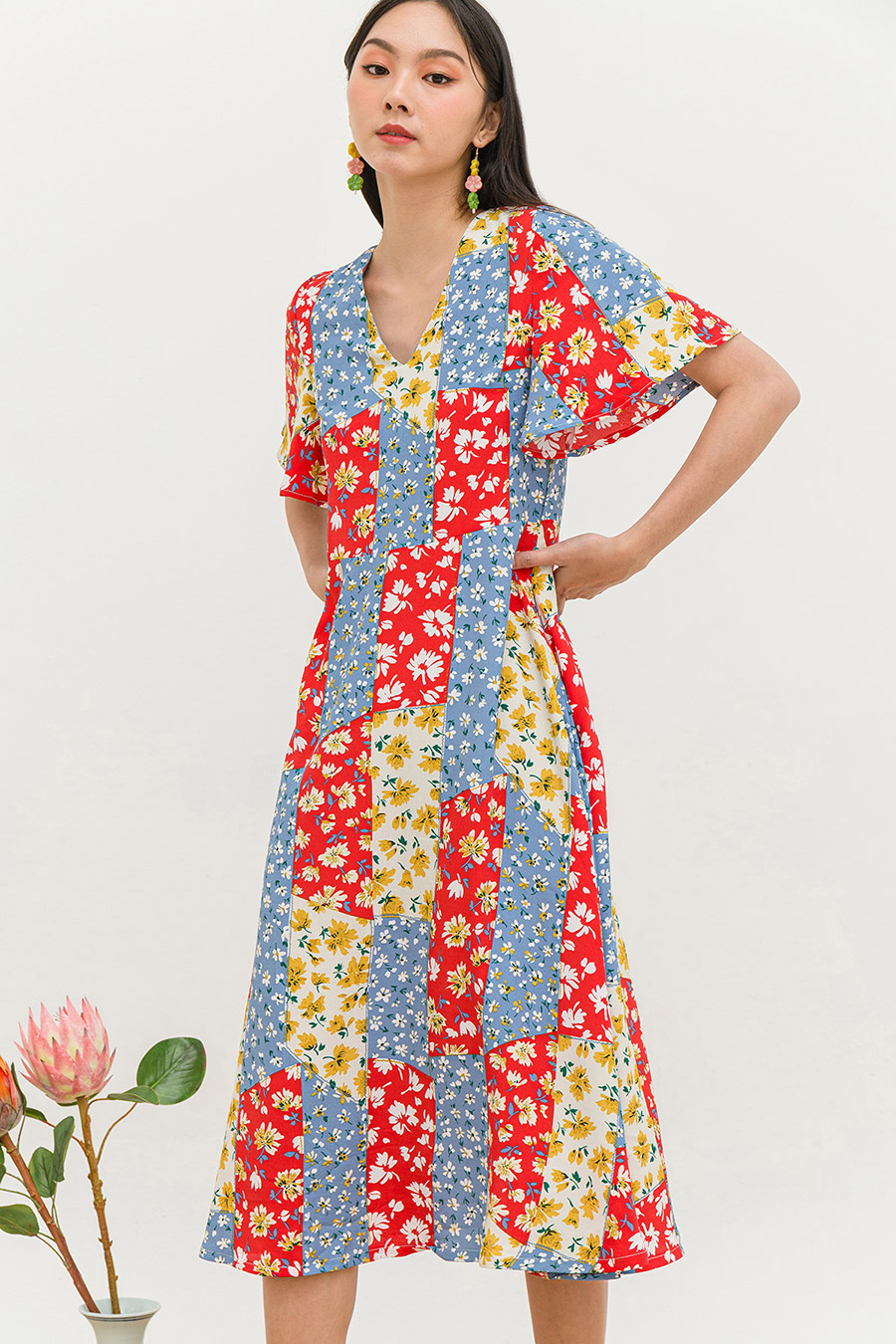 *RESTOCKED* SHANDY DRESS - PATCHWORK [BY MODPARADE]