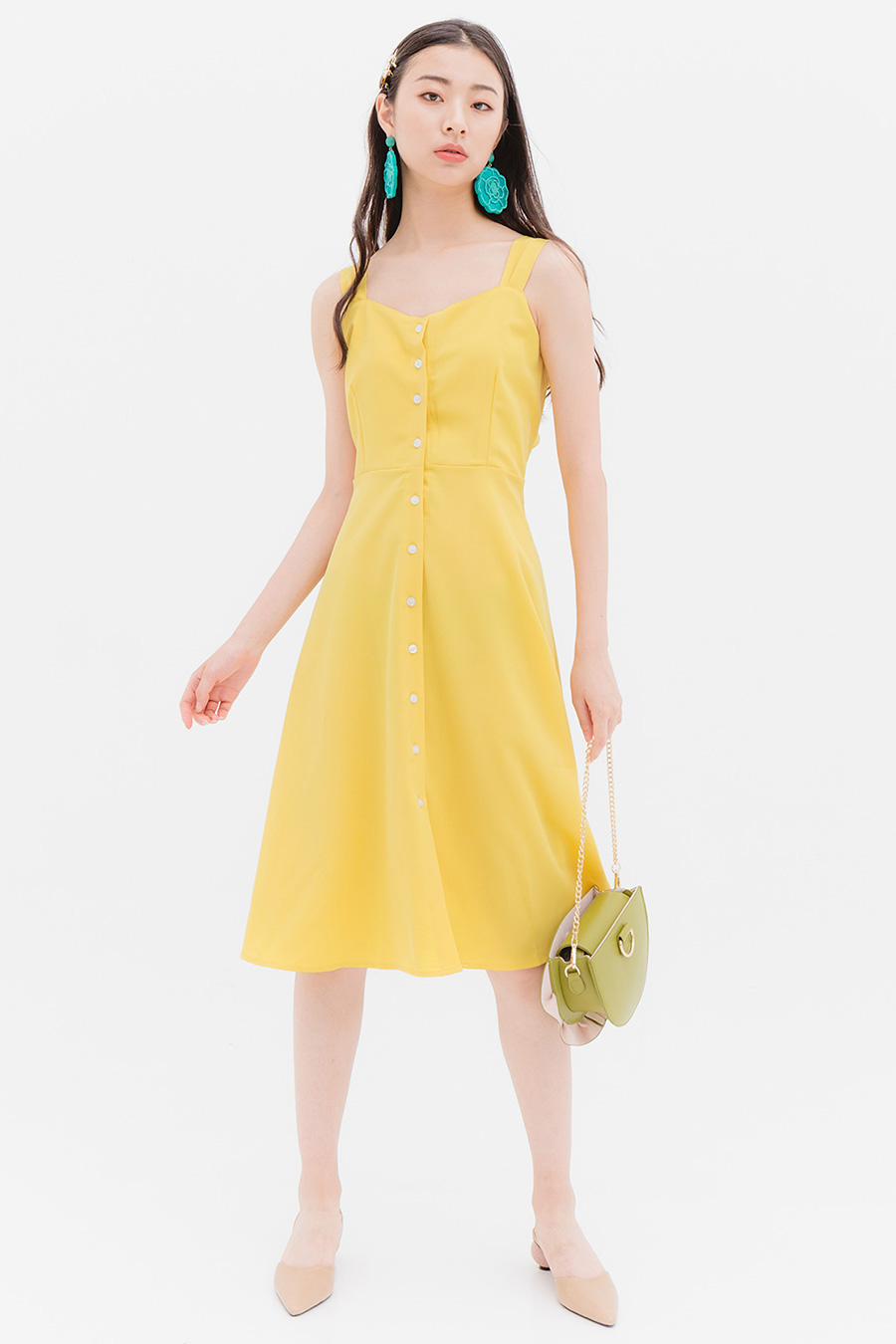 *BO* SHERPA DRESS - BUTTERCUP