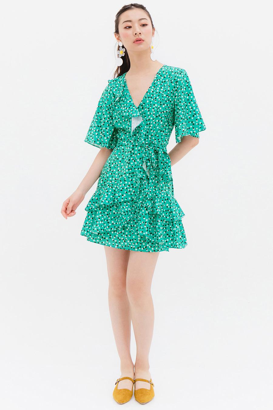 SHEVA DRESS - EMERALD