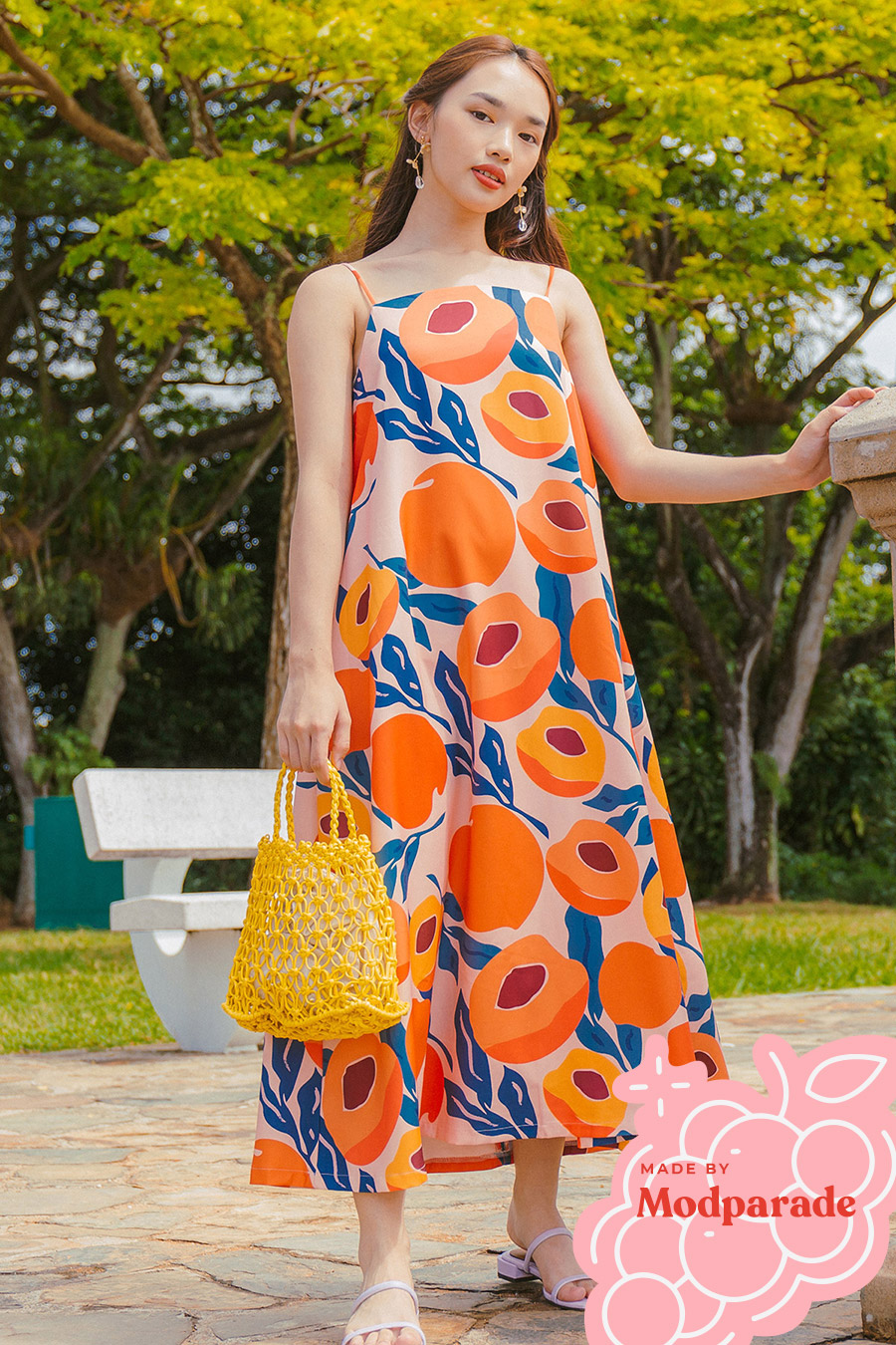 *RESTOCKED* SIENNA DRESS - PEACHES [BY MODPARADE]