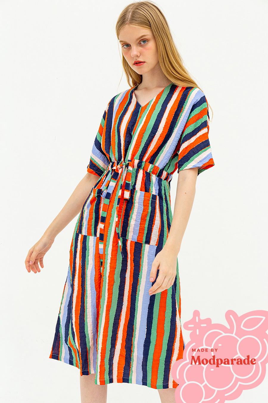 SIMONE DRESS - SUNSET STRIPE [BY MODPARADE]