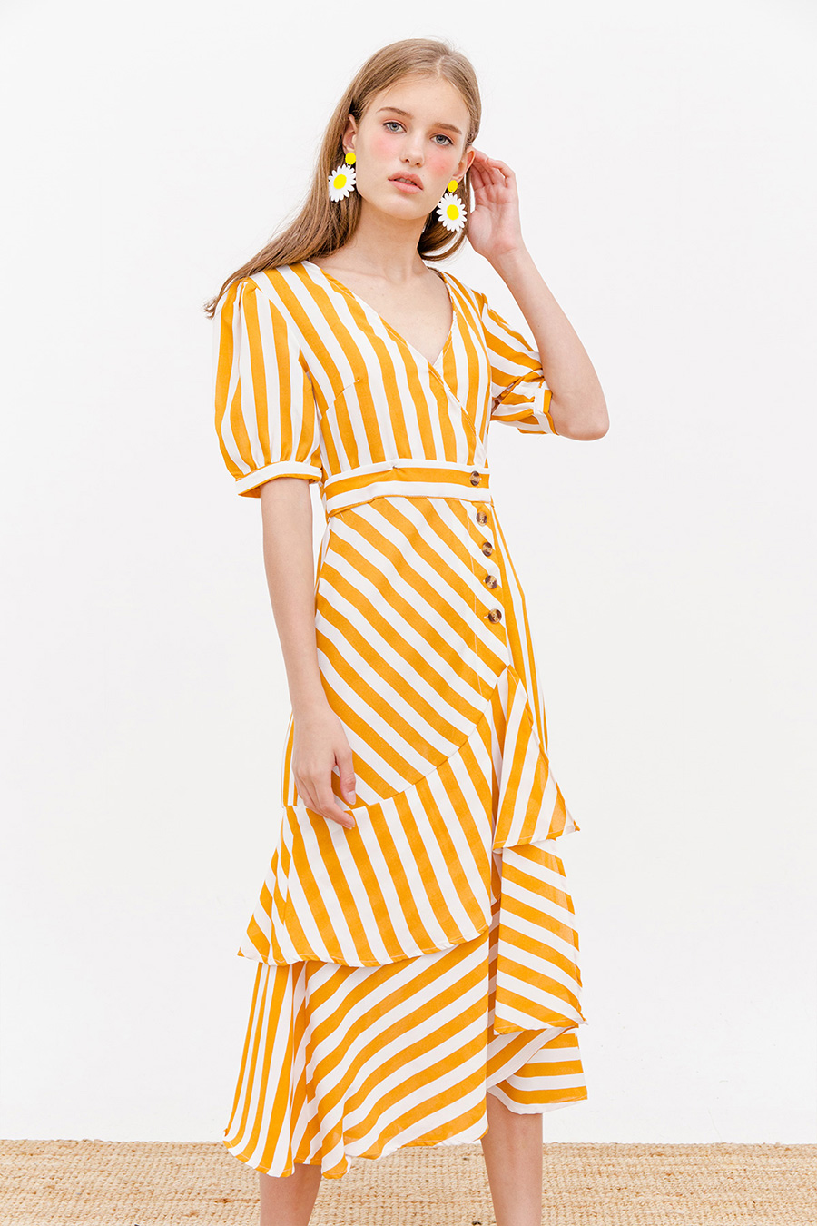 SONNET MIDI DRESS - CARIBBEAN GOLD