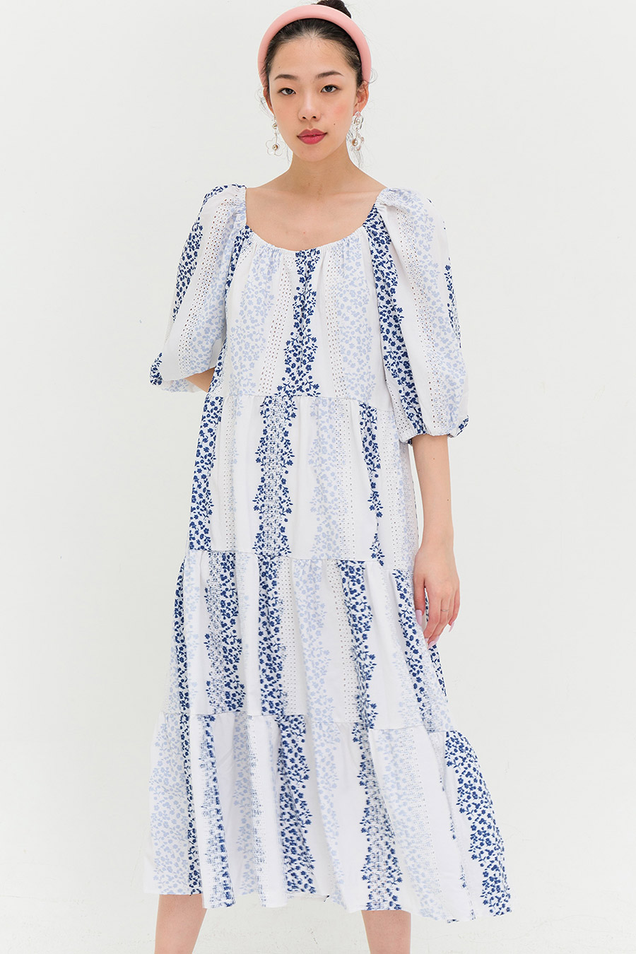 SOPHIE DRESS - LAKE FLEUR