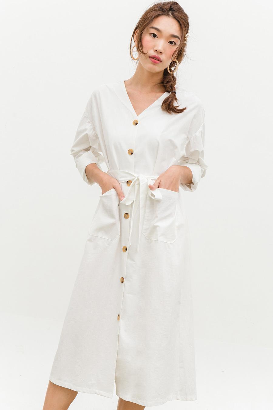 STANISLAV DRESS - IVORY