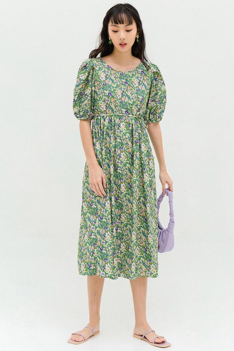 *RESTOCKED* SUEZANNE DRESS - VANILLA FLEUR