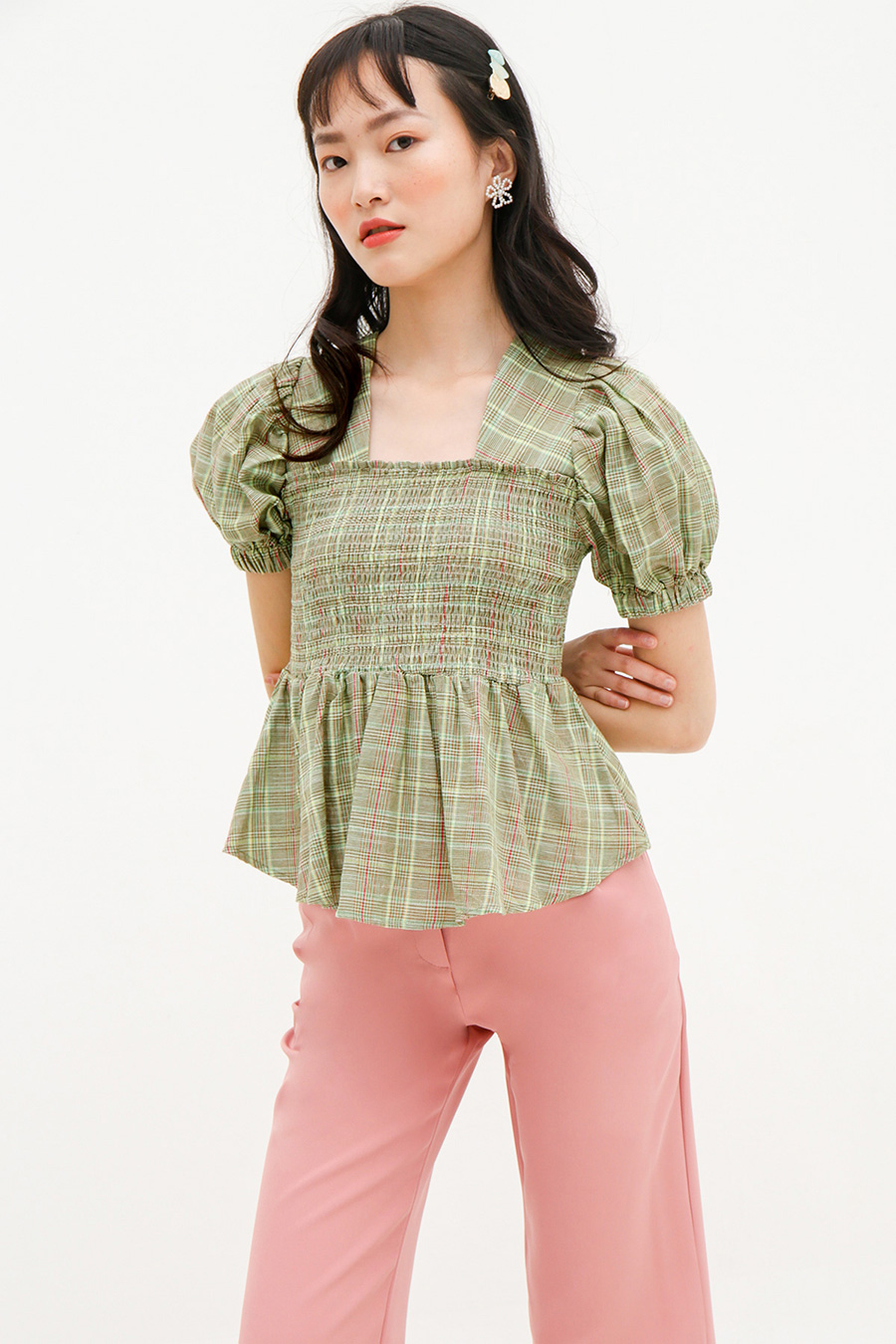 SUZANNE TOP - PLAID
