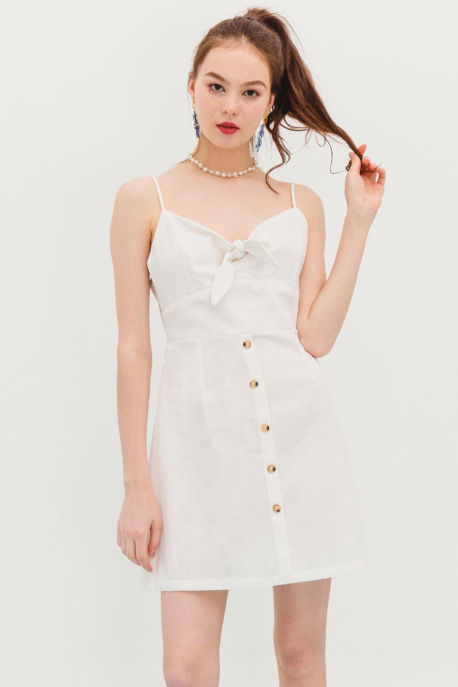 SYBIL DRESS - IVORY