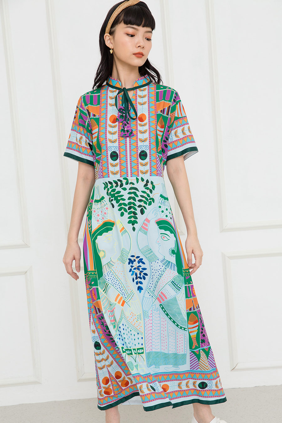 SYBILLE DRESS - BOHO PALM