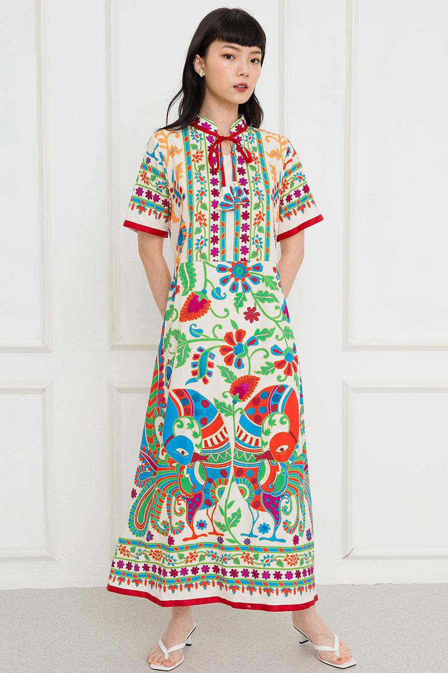 *BO* SYBILLE DRESS - BOHO SCARLET