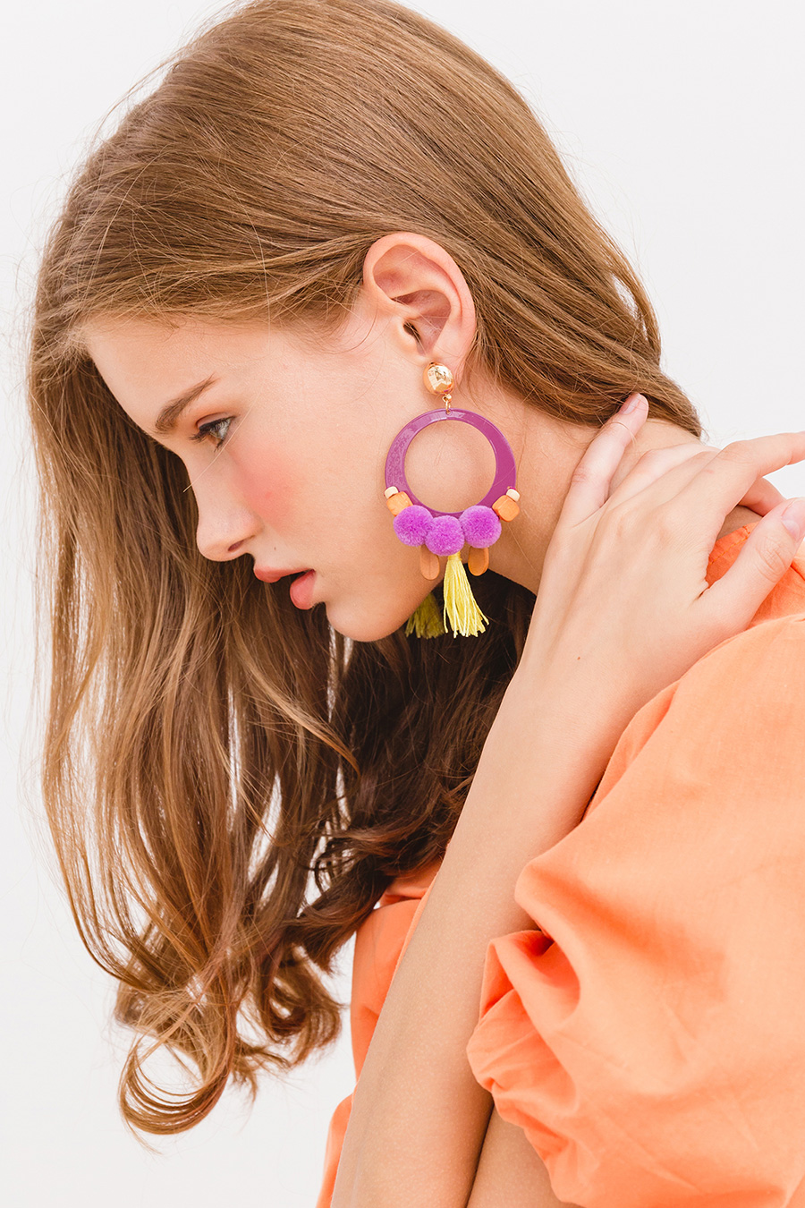 TABEA EARRING - SUNSHINE PLUM