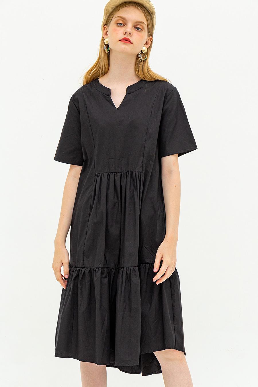 TANIYAH DRESS - NOIR