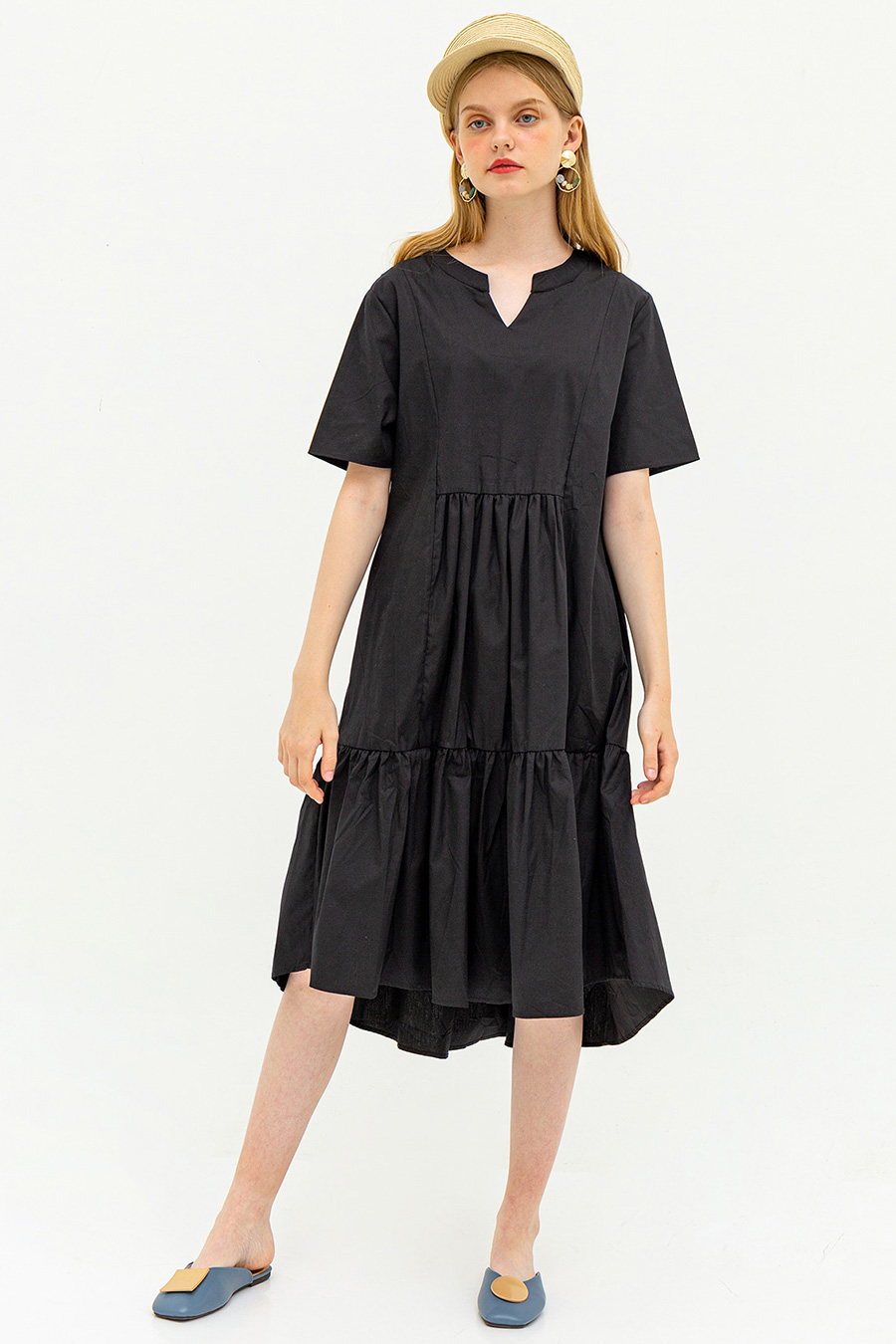 TANIYAH DRESS - NOIR