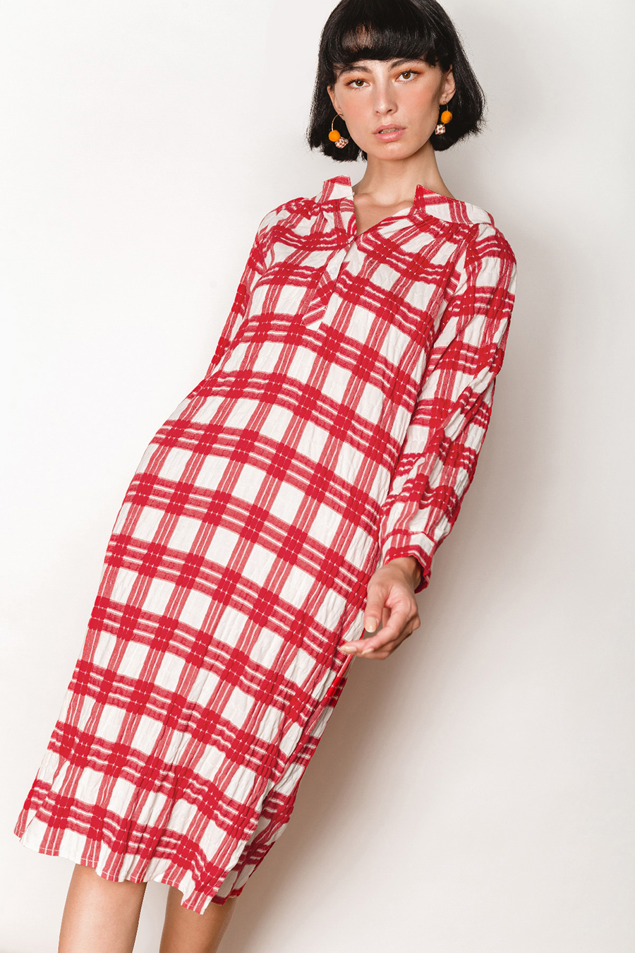 TATE DRESS - PERSIAN CHECKS