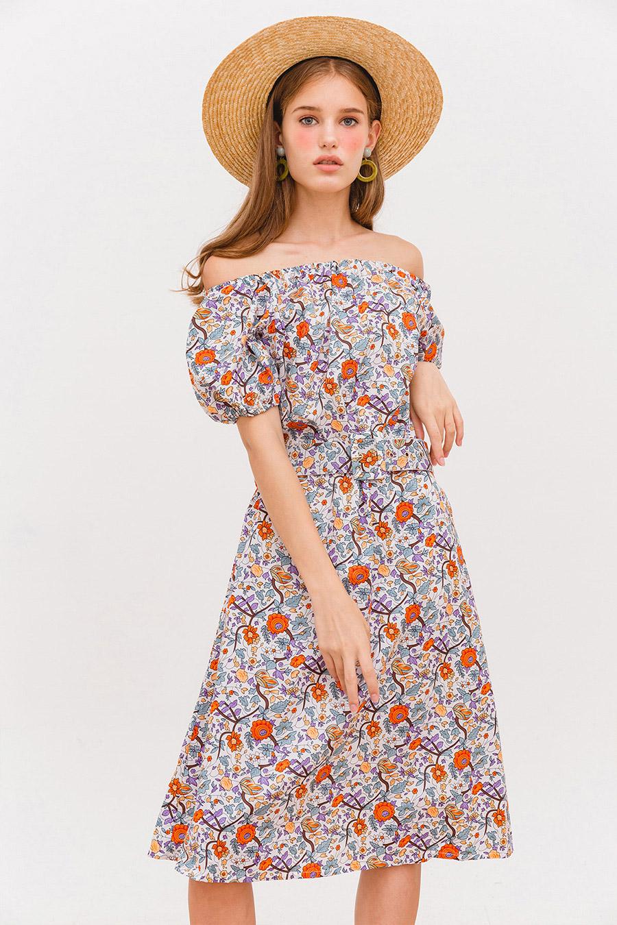 TILDEN DRESS - IVORY FLEUR