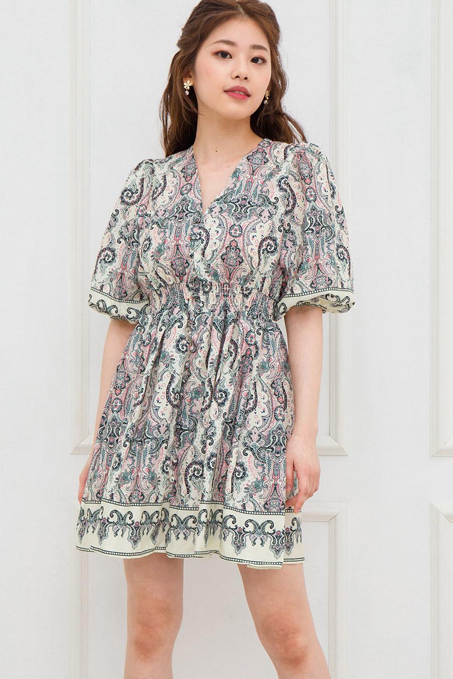 VELLUTO DRESS - PINK PAISLEY