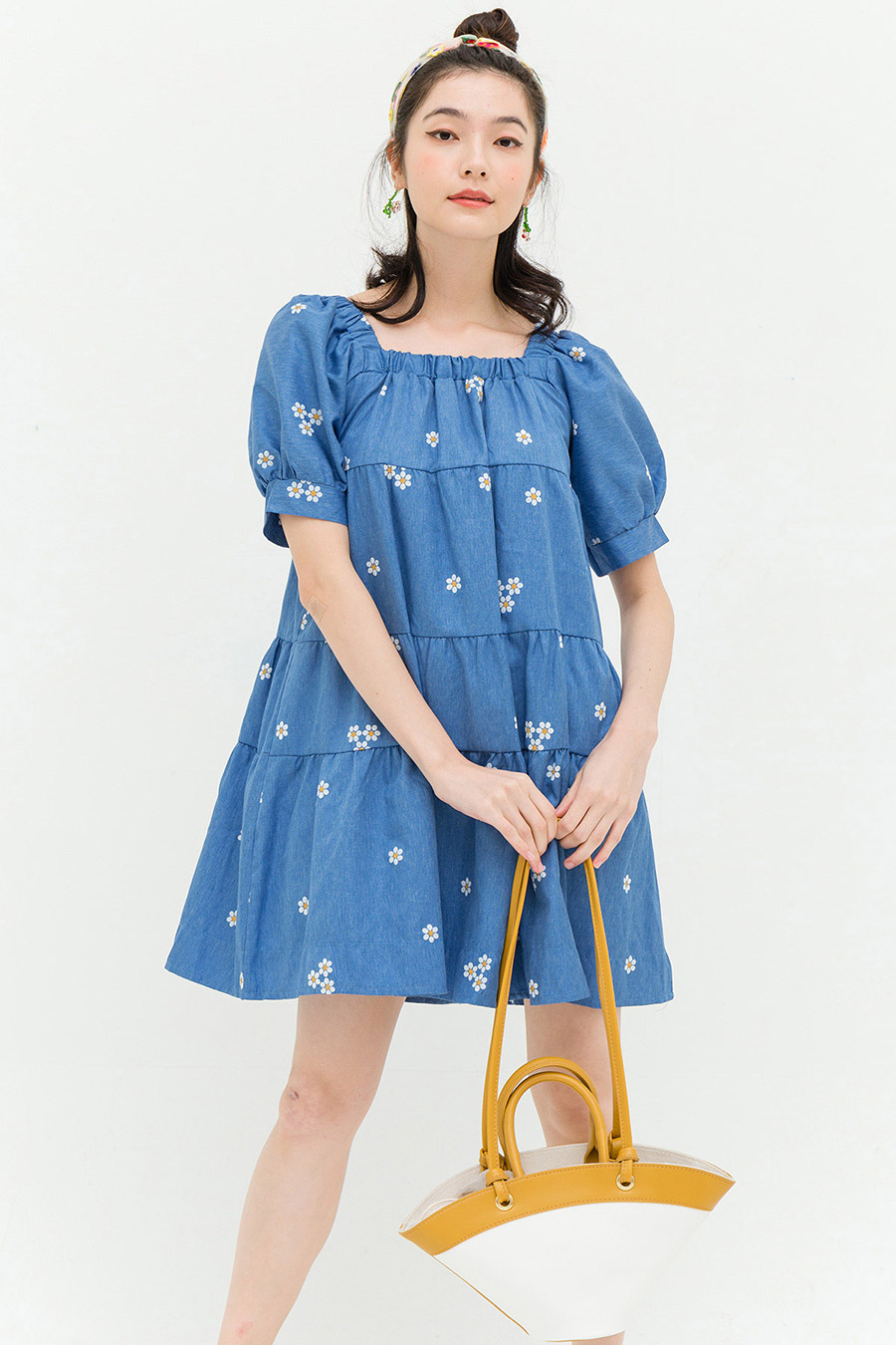 VERDA DRESS - DENIM WASH